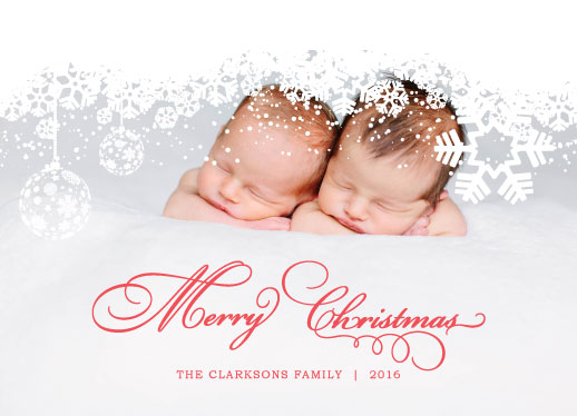 holiday photo cards - Merry White Christmas by Cecilia Soronio