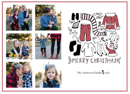 holiday photo cards - Santa's Wardrobe by Linnea Taylor