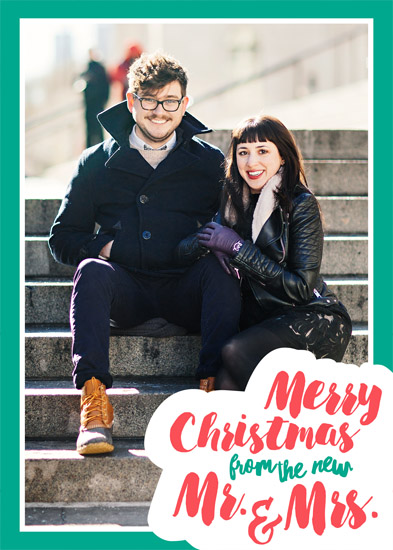 holiday photo cards - Mr. & Mrs. First Christmas by Viper Paper Co.
