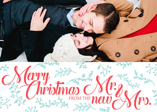 holiday photo cards - First christmas for Mr. & Mrs. by Viper Paper Co.