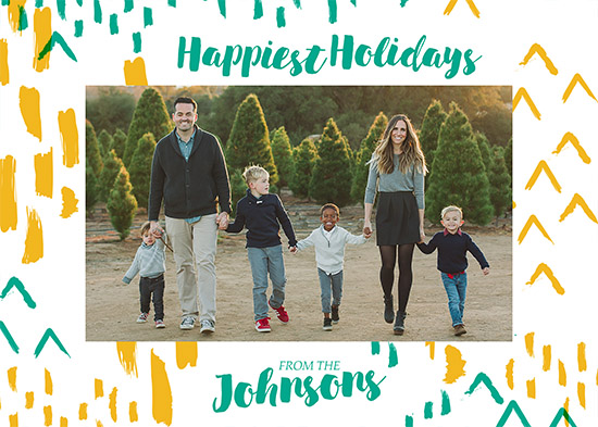 holiday photo cards - Happiest Holidays abstract by Viper Paper Co.