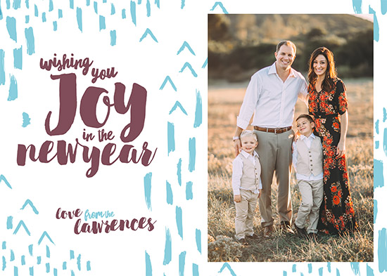 holiday photo cards - New Year's Joy by Viper Paper Co.