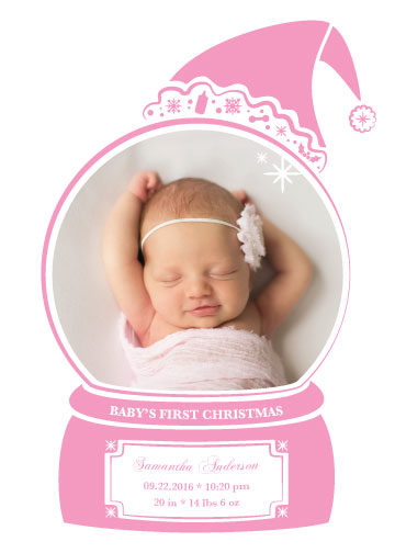 holiday photo cards - Baby's First Christmas by Qui Phang