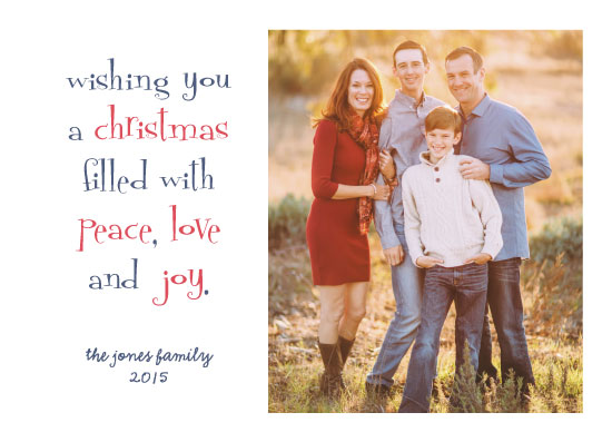 holiday photo cards - Peace, Love and Joy by Kristel Torralba