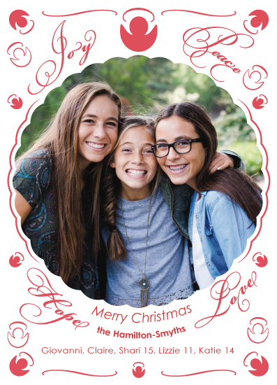 holiday photo cards - Elegant Angels by MoMint