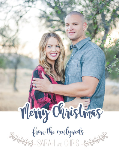 holiday photo cards - Christmas Newlyweds by Amber Hare
