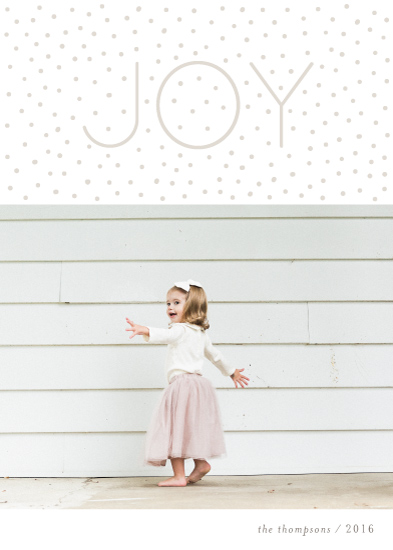 holiday photo cards - Dotted Joy by Kelly Nasuta
