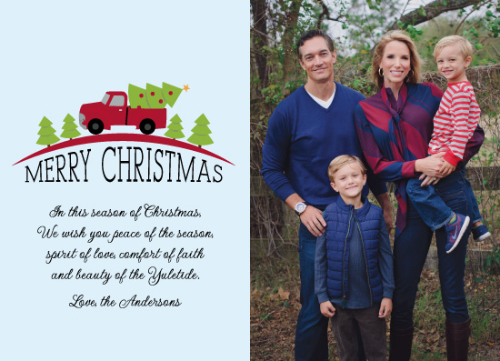 holiday photo cards - Blessed Christmas by High5ive Creative