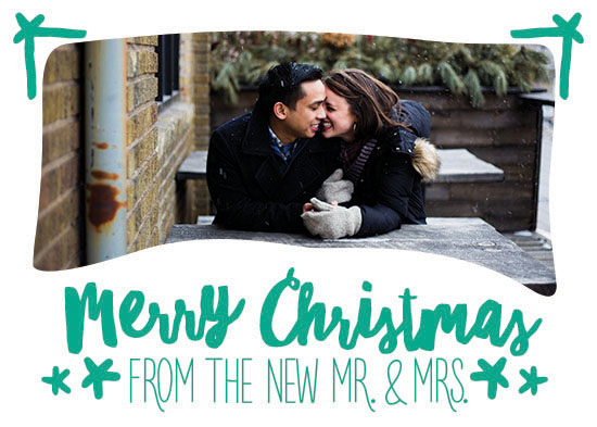 holiday photo cards - New Mr. & Mrs. by Viper Paper Co.