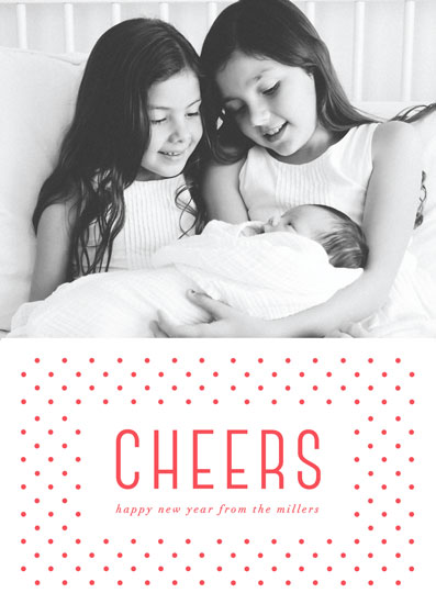 holiday photo cards - Polka Dot Cheers by Jennifer Postorino