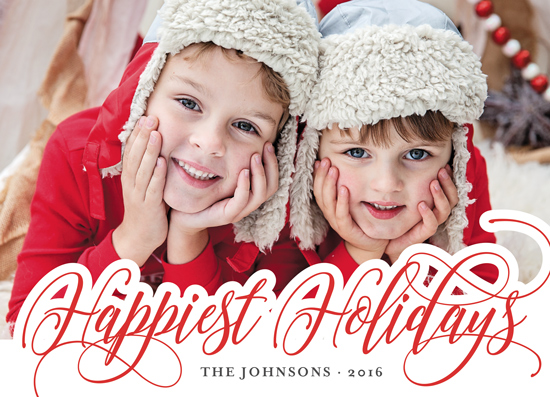holiday photo cards - Happiest script by Chasity Smith