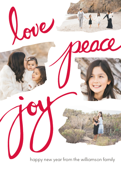 holiday photo cards - Torn paper collage by Tiki Keller