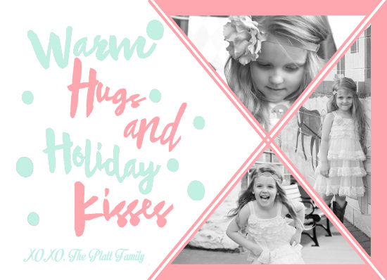 holiday photo cards - Warm Hugs and Holiday Kisses by Christy Platt