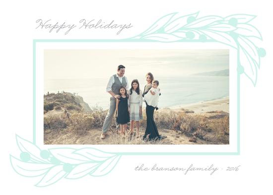 holiday photo cards - Botanical Frame by Liz Conley