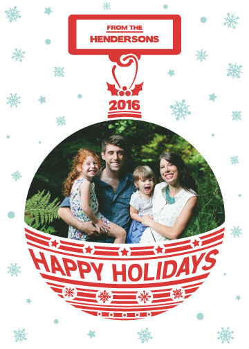 holiday photo cards - Our Family Ornament by Qui Phang