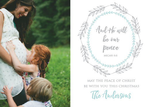 holiday photo cards - Our Peace by Glittery Chicken