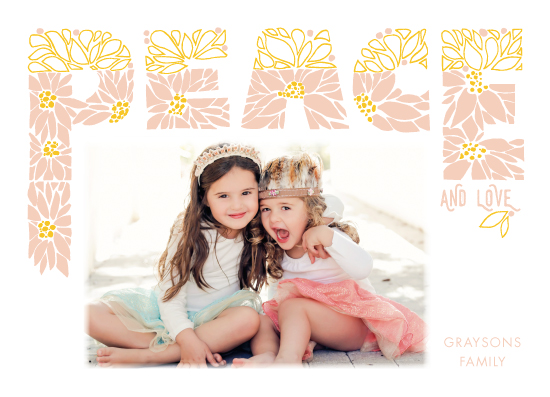 holiday photo cards - Love and Peace by CaroleeXpressions