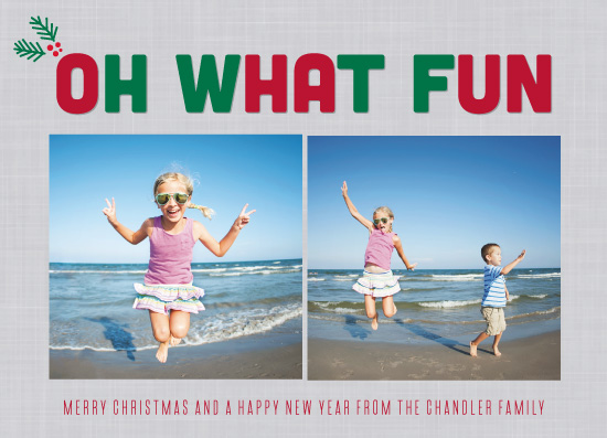holiday photo cards - Much Fun on Christmas by High5ive Creative