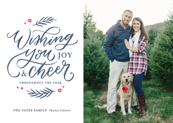 holiday photo cards - Wishing You Joy and Cheer by Kristen Smith