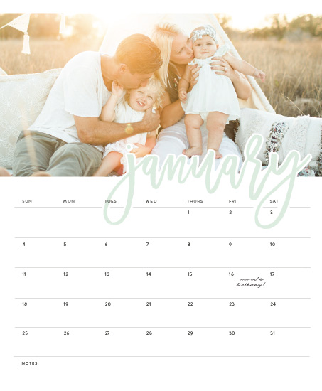design - Scripted Month by Amy Payne