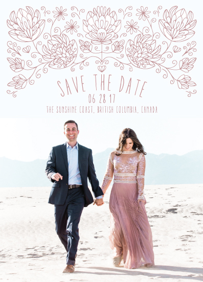 save the date cards - A delicate touch by Leanne Friedberg