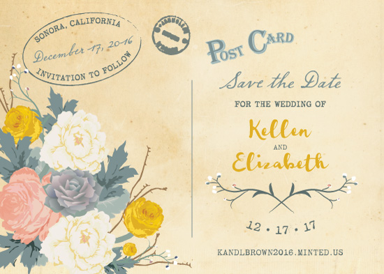 save the date cards - Romantic Post by Natalia