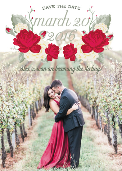 save the date cards - Roses are red by Natalia