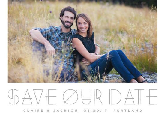 save the date cards - Modernist by Amber Barkley