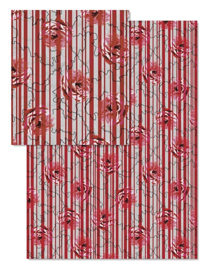 design - Rosy Stripe by Nikky Starrett