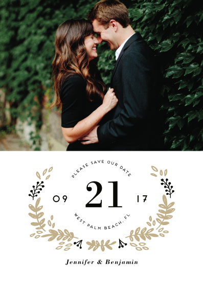 save the date cards - Simply Elegant by iamtanya