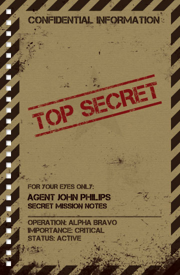 design - Top Secret by Mark Wilson