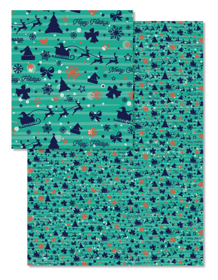 design - Blue and green christmas by AnaP Studio