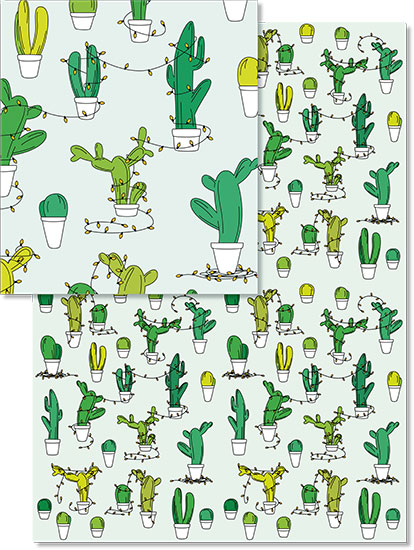design - Cactus Christmas by Viper Paper Co.