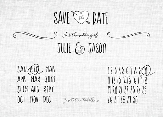 save the date cards - Linen & Love by Lisa Rodgers