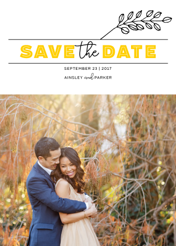 save the date cards - Fairy Garden Wedding by Molly Tanner