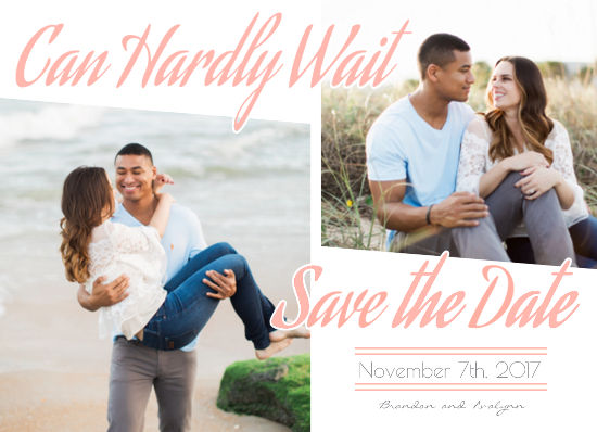 save the date cards - Can Hardly Wait by Christy Platt