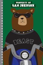 """Beasty"" Bear on Motorc... by Milena Martinez"