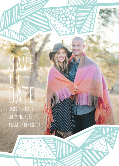 save the date cards - Framing Feathers by jomolo