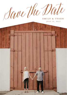 save the date cards - Eaves by Shayna Brown