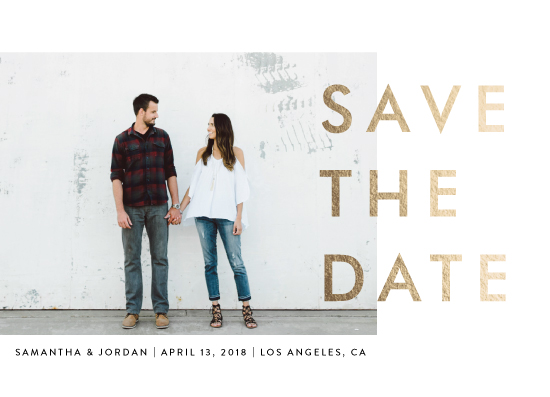save the date cards - Modern Landscape by seulghi