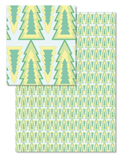 design - Aztec Trees by Jenna Baker