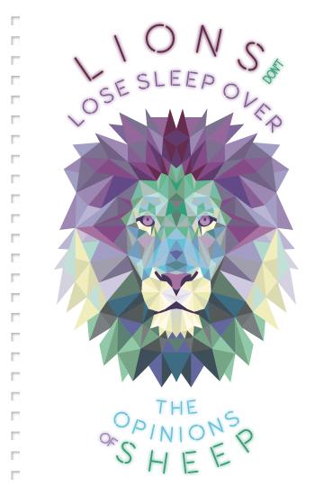 design - Neon lion by AnaP Studio
