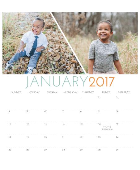 design - Linear Calendar by Meredith Collie