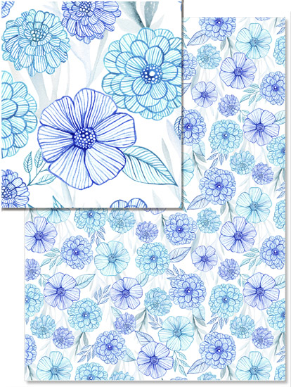 design - Blue garden by julia grifol designs