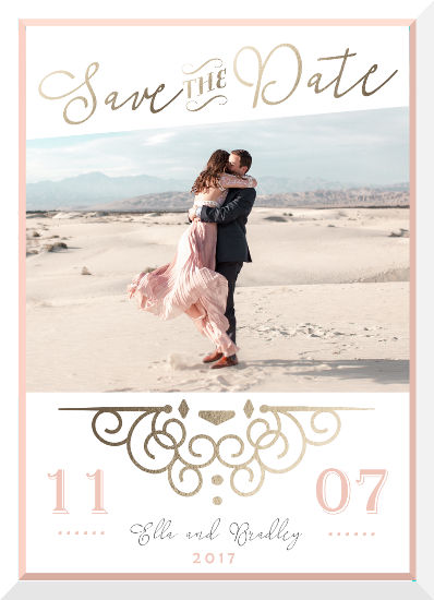 save the date cards - Our Love Story by Christy Platt