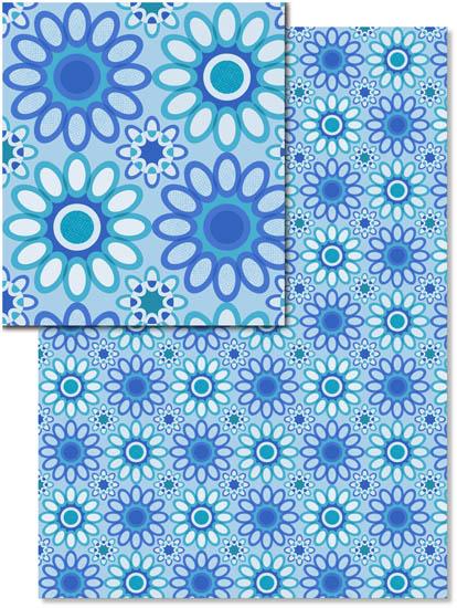 design - Blue flowers by julia grifol designs