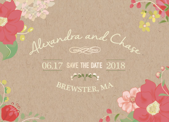save the date cards - Vintage Florals by Jill