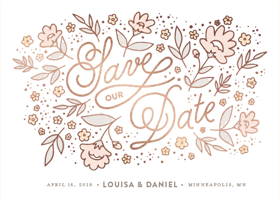 save the date cards - Floral Scatter by Maddy Hague