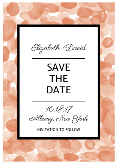 save the date cards - Spot On by Hannah Langford