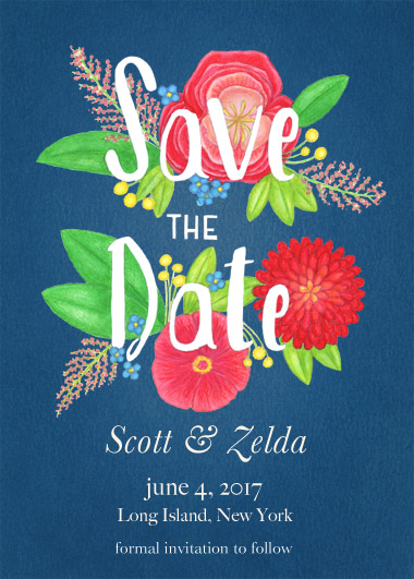 save the date cards - Garden Party by Ellen Lambrichts